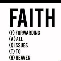 So let go and let God!!