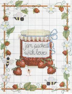 Strawberry Jam Cross Stitch..25-9-2013 Di questi tempi mi preparavi sempre le tue deliziose marmellate fatte con il cuore di mamma. Mi manchi tanto. Tvb