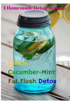 4 Homemade Detox Recipes For Weight Loss - It is amazing how good you can feel after just a 2 week detox session. I really enjoy having my detox drink to sip on all day at work. I seriously don't know why anyone would drink regular water when you can drink lemon mint water and it helps you lose weight! #weightloss #detox