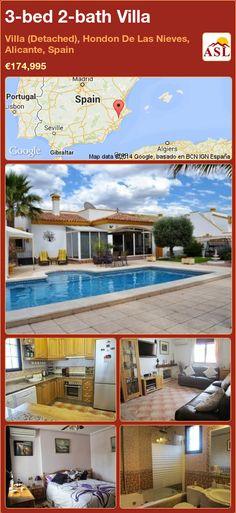 3-bed 2-bath Villa in Villa (Detached), Hondon De Las Nieves, Alicante, Spain ►€174,995 #PropertyForSaleInSpain