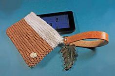 Handbag Wristlet Zippered Bag 7 Inch Tablet Bag by ADKArtsBoutique