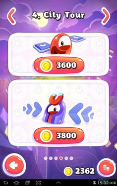 Pudding Monsters Android Other levels must be purchased with in-game currency