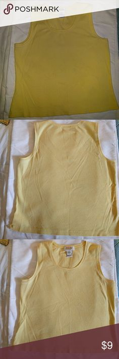 Talbot's Petites Yellow Sleeveless Top Talbot's Petites butter yellow sleeveless cotton/spandex blend top. Talbots Tops