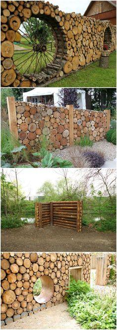 Cordwood fences                                                                                                                                                                                 More #DIYHomeDecorOutdoor