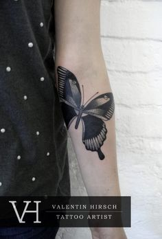 butterfly by valentine hirsch #tattoos