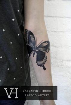 butterfly by valentine hirsch #tattoos