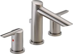 Delta 3561-SSMPU-DST Compel Series Two-Handle Widespread Lavatory Faucet - modern - Bathroom Faucets - PlumbersStock