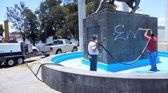 Una forma ecologica de mantener limpios los monumentos. Sandblasting Ecologico con #Ecoquip