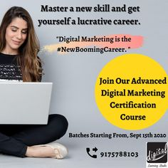 Learn Digital Marketing in Live Interactive Online Classroom Course under the guidance of experienced trainer from your home. All you need is an eagerness to learn. You can master & polish new skills with a hand-hold training without leaving your home. Save travel time, escape physical stress and be safe during the prevailing Pandemic. So don't waste your precious time. Only action takes are the winners!!! Enroll now!!! Contact us on 9175788103 Learning Web, Interactive Learning, Classroom Training, Education And Training, Online Marketing Courses, Marketing Institute, What Is Digital, Physical Stress, Online Classroom