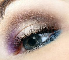 Taupe, purple and teal