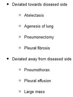 summary of deviation of the trachea