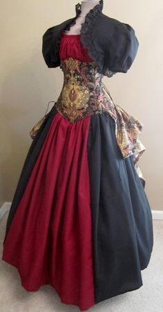 I like how the bustle is attached to the corset