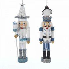 "kurt adler nutcracker ornaments   ... Kurt Adler 6"" Nutcrackers With Penguin & Polar Bear Hats Ornaments"