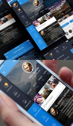 Social App UI on Behance