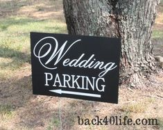 Hey, I found this really awesome Etsy listing at http://www.etsy.com/listing/68247660/custom-wedding-signage-parking