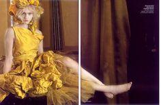 """Enchanted Gardens"" Vogue India Octboer 2007 / Ph. Paolo Roversi / Sasha Pivovarova"
