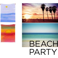 """Beach Party Towels"" by lillianhibiscus on Polyvore"