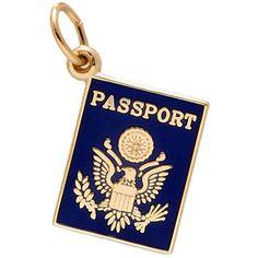 Rembrandt Passport Charm, 14K Yellow Gold