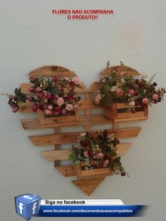 Faux Sunflowers in Vase Diy Pallet Projects, Wood Projects, Easy Woodworking Projects, House Plants Decor, Plant Decor, Wood Crafts, Diy And Crafts, Decoration Plante, Wood Planters