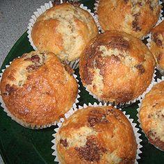Recetas Sin Gluten. Muffins de hierbabuena con pepitas de chocolate.