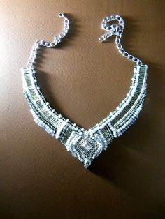 Ani Jewelry Design white beaded collar necklace by ~AniDandelion on deviantART