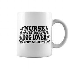 Nurse By Day Dog Lover By Night Coffee Mug
