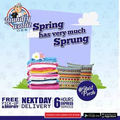 """#startfresh this Spring with laundrywalaz From Dry cleaning to ironed & folded clothes with free pick-up & Drop service.  Call us NOW 0423-6688830-31 & Schedule a Laundry pick-up Today!!! or - Log on to our Website: www.laundrywalaz.com - Download our App Available at Android """"Google Play Store"""" & iOS """" App Store""""  - Follow us on Facebook & Instagram Laundry Walaz #weddingseason #winterseason #ease #convenience #laundrywalaz #comeclean #startfresh #clknetwork #homeappliance24…"""
