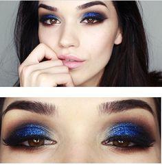 Blue Eyeshadow Look for Brown Eyes (via EasyNeon)