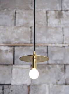 Brass pendant lamp Lambert and Fils Dot Suspension Lamp Cool Lighting, Modern Lighting, Lighting Design, Industrial Lighting, Industrial Style, Modern Lamps, Lighting Stores, Office Lighting, Unique Lamps