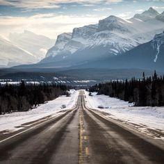 nordegg road. alberta. by tannerwendell