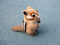 Chipmunk Miniature  Felted Animal  Soft by ThePineappleCatz