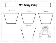 A story map of Mrs. Wishy Washy (Characters, setting