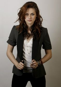 Kristin Stewart.  all about the accessories in this one