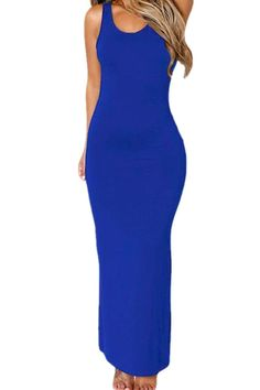 4b608f45dea88 Chase Secret Womens Sleeveless Hollowed Back Maxi Long Jersey Dress at Amazon  Women s Clothing store