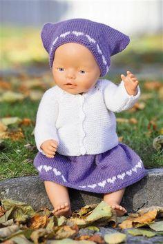 Sandnes Garn. Hefte - 1101 Sisu Barn. Nr 21 Dukkeklær Knitting Dolls Clothes, Doll Clothes, Baby Born Clothes, Knit Crochet, Crochet Hats, Knitting For Kids, Baby Dolls, Knitting Patterns, Teddy Bear