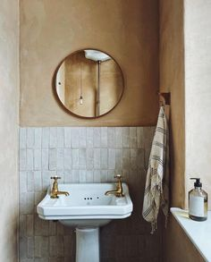 All Sorts Of (@all.sorts.of) • Instagram photos and videos Bathroom Inspo, Bathroom Inspiration, Interior Inspiration, Rustic Powder Room, Terrazzo Tile, Cement Tiles, Clean Space, Moroccan Tiles, White Tiles