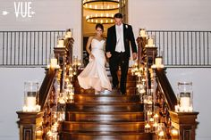 Do the same at your wedding with Candle Impressions flameless candles. Wouldn't this also be a great entrance to a reception?