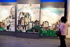 Love these paintings by Musician Ryan Adams