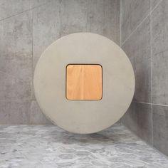 ++Bathroom Stool++ @inspiredtrends_homedecor #enquires #greyongrey #itrendsdecor #bathroomdecor #round #concrete #concretestool #beech #furniture #interiorlovers