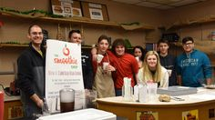 """""""The cafe is a wonderful opportunity for Canfield students to actually run a real business while in high school,"""" said Sherry Creighton, business teacher.  """"We are grateful for this partnership with the Smoothie Shop, Junior Achievement, and our other local business partners."""""""