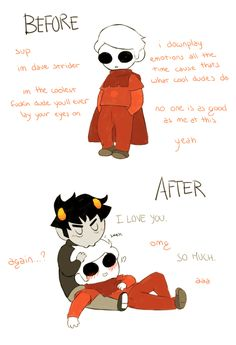 Still don't ship Davekat. Only if John died. But I would probably die too Homestuck Karkat, Homestuck Cosplay, Homestuck Funny, Homestuck Characters, Web Comics, Home Stuck, Davekat, Striders, Fandoms