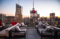 Inside Bar 54, NYC's Highest Rooftop Lounge : Gothamist