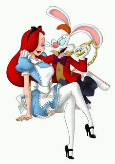 Jessica Rabbit as Alice in Wonderland