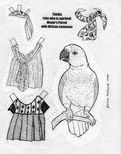 Birds paper dolls 3