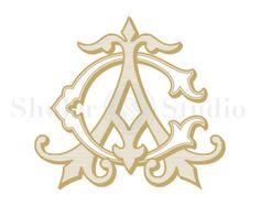 AC Monogram, CA Monogram, Wedding Monogram, Vintage Monogram, Digital Monogram…