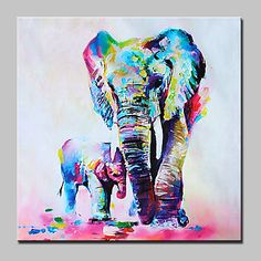 Hand Painted Mother And Baby Elephan Oil Painting On Canvas Modern Wall Art Picture For Home Decoration With Stretched Frame Ready To Hang 5358121 2016 – €49.97
