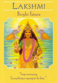 Lakshmi - la diosa Orientación Oracle Tarjetas