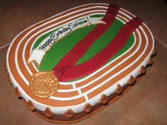 graduation party ideas for track and field | Track And Field Birthday Cake By XXxRyssaxRyotxXx On DeviantART