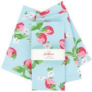 Set of 4 Strawberry Napkins