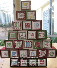Advent Calendar using 25 & Counting from Stampin' Up!